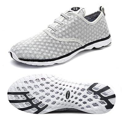e3614b315576 Dreamcity Men s Water Shoes Athletic Sport Lightweight Walking Shoes Grey