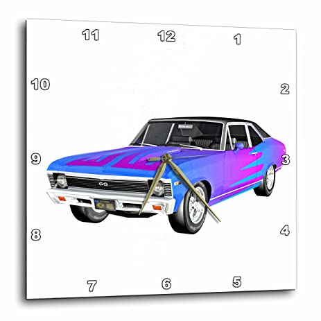 Amazon Com 3drose Boehm Graphics Car 1968 Blue And Purple Muscle