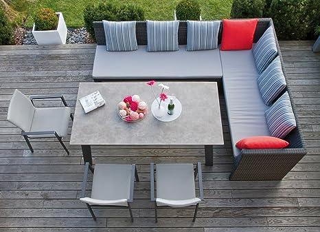 Amazon De Riesige Garten Sitzgruppe Lounge Mit Esstisch