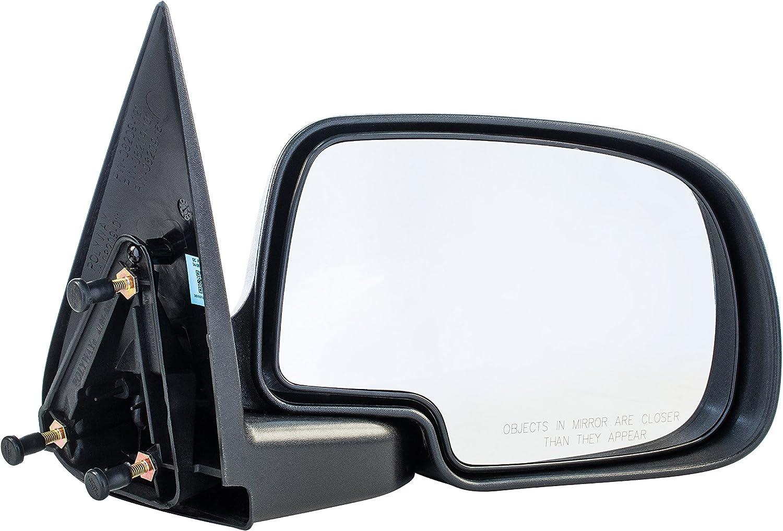 Passenger Side Non-Heated Manual Operated Mirror for Cadillac Escalade Chevy Silverado Suburban HD Tahoe GMC Sierra Yukon XL 1500 2500 3500 1999-2007 - Parts Link #: GM1321230