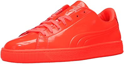 9f1d9f6199 PUMA Men s Basket Classic Patent Emboss Fashion Sneaker Red Blast 9.5 ...