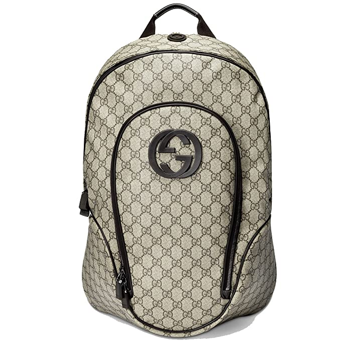 756cce78169 Gucci Supreme Canvas Interlocking G Logo Backpack Brown 223705  Amazon.ca   Clothing   Accessories