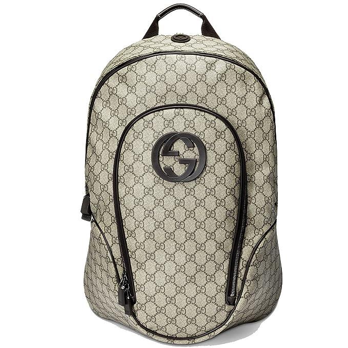 1b9d6ea8543 Gucci Supreme Canvas Interlocking G Logo Backpack Brown 223705  Amazon.ca   Clothing   Accessories