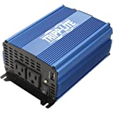 Tripp Lite 1000W Compact Portable Power Inverter for Cars, Car Outlet Adapter with 2 AC 1 USB Outlets (PINV1000)