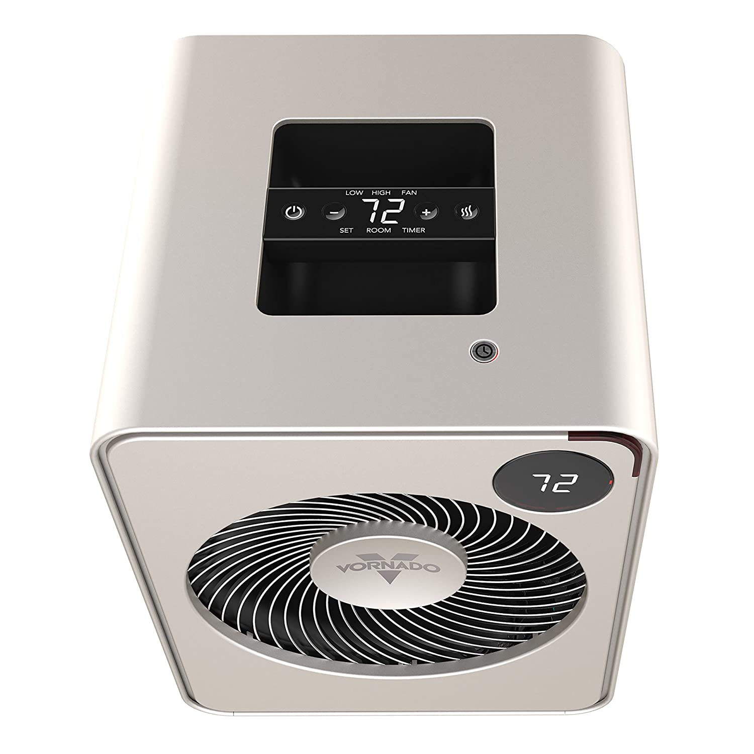 Vornado Vmh500 Whole Room Metal Heater With Auto Climate Fan For Automatic Temperature Control 2 Heat Settings Adjustable Thermostat 1 12 Hour Timer And Remote Champagne Home