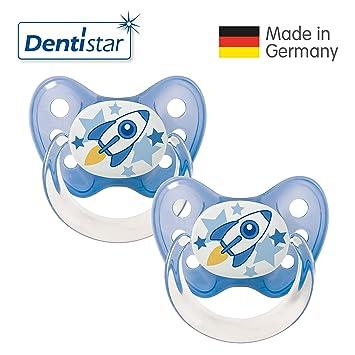 Denti Star® Latex Tétine Set 2 Livré avec 2 capuchons – nuckel caoutchouc  naturel 1 9b27efebeef