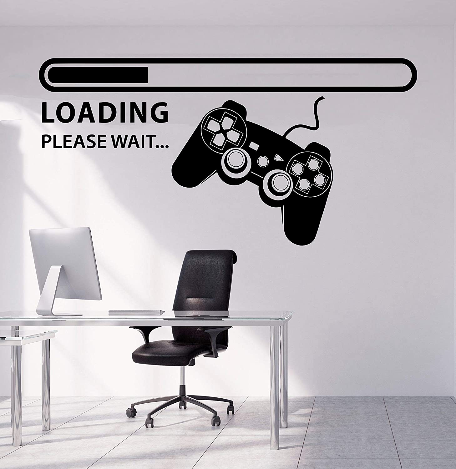 Boy Gamer Wall Stickers Murals Gamer with Controller Wall Decal Vinyl Art Design Gamers World Wall Decor for Teen Kids Bedroom Playroom Home Decoration Wallpaper