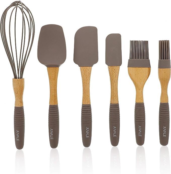 Juvale - Juego de utensilios de cocina de silicona (6 piezas ...