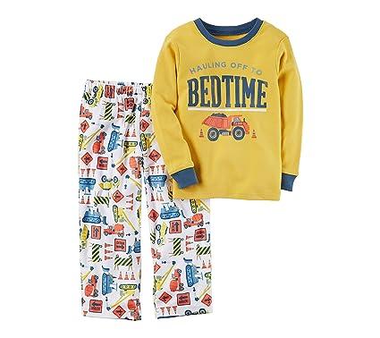 5440d09dd559 Amazon.com  Carter s Boys  12M-12 2 Piece Bedtime Construction Print ...
