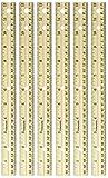 Fiskars Wooden Ruler, 12 Inch, Pack of 6
