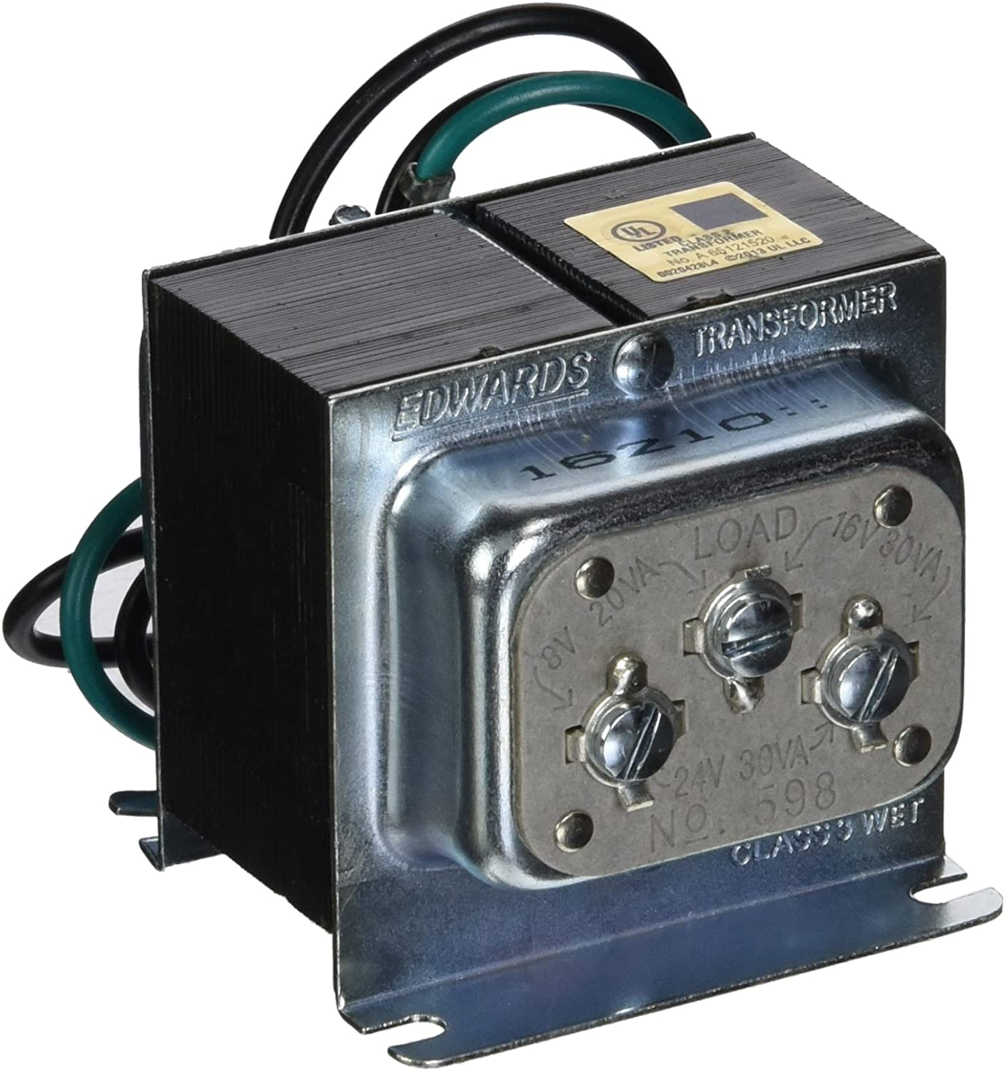 edwards signaling 598 120v 8/16/24v 30w transformer - security and  surveillance accessories - amazon.com  amazon.com