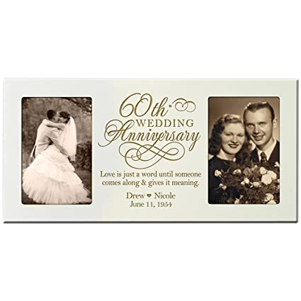 Amazon.com - Personalized 60th Anniversary Gift Picture frame Custom ...