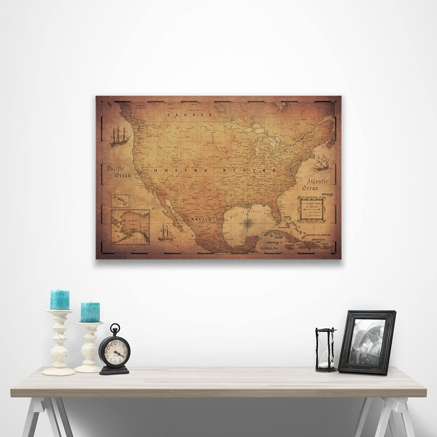 Us Map On Cork Board.Amazon Com Conquest Maps Map Cork Board Travel Map Of United