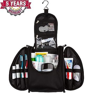 c94f65d6ba2e 42 Travel Hanging Toiletry Bag – Large Kit Organizer for Men & Women –  Spacious & Compact, 17...