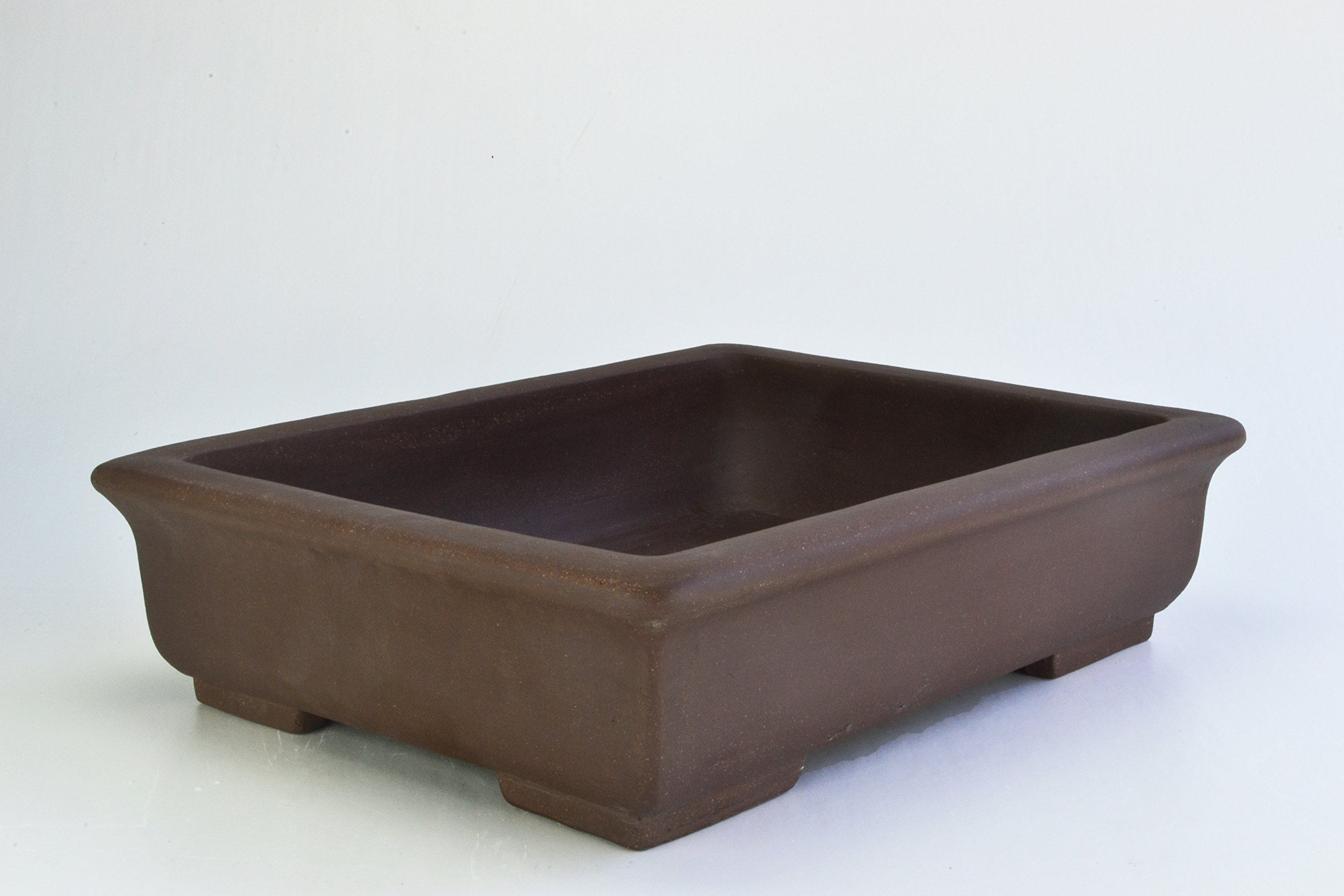 Unglazed 24'' Rectangular Yixing Purple Clay Ceramic Bonsai Pot(PA5-24)