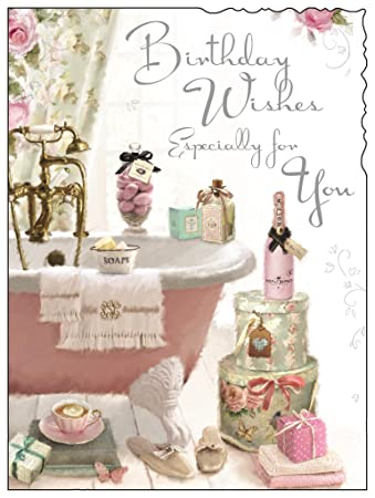Jonny Javelin Birthday Wishes Female Birthday Card Amazon