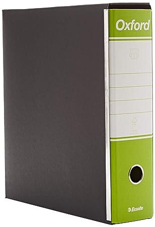 Esselte 390783600, archivador Oxford, formato comercial, cartón, lomo 8 cm para archivador, Unidades de 6pz, verde lima: Amazon.es: Oficina y papelería
