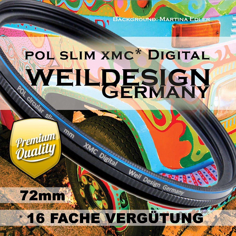 Polfilter Pol 72mm Circular Slim Xmc Digital Weil Kamera