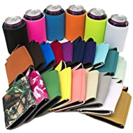 Tahoebay 25 Can Sleeves for Standard Cans Blank Poly Foam Beer Insulator Coolers (Multicolor, 25)