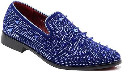 269e6f64c Enzo Romeo SPK24 Men Vintage Spikes Sparkle Formal Tuxedo Stage Fashion Slip  On Loafer Dress Shoes