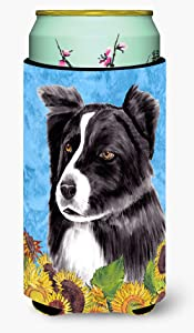Caroline's Treasures SC9071TBC Border Collie Tall Boy Beverage Insulator Beverage Insulator Hugger, Tall Boy, multicolor