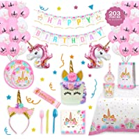 Girl Birthday Party Tableware Decoration Plate Hat Cup Napkin Horns JA