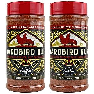 Plowboys YardBird BBQ Rub - 2 Pack - 14 oz