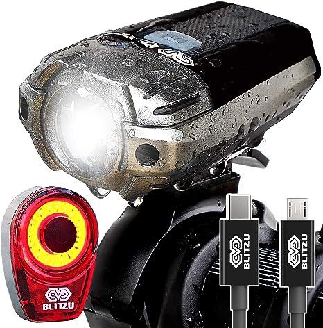 Amazon.com: Set de luces LED recargables USB para bicicleta ...