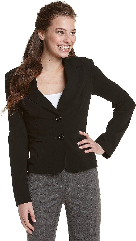A. Byer Junior's Long Sleeve Button welt Jacket, Black, X-Large