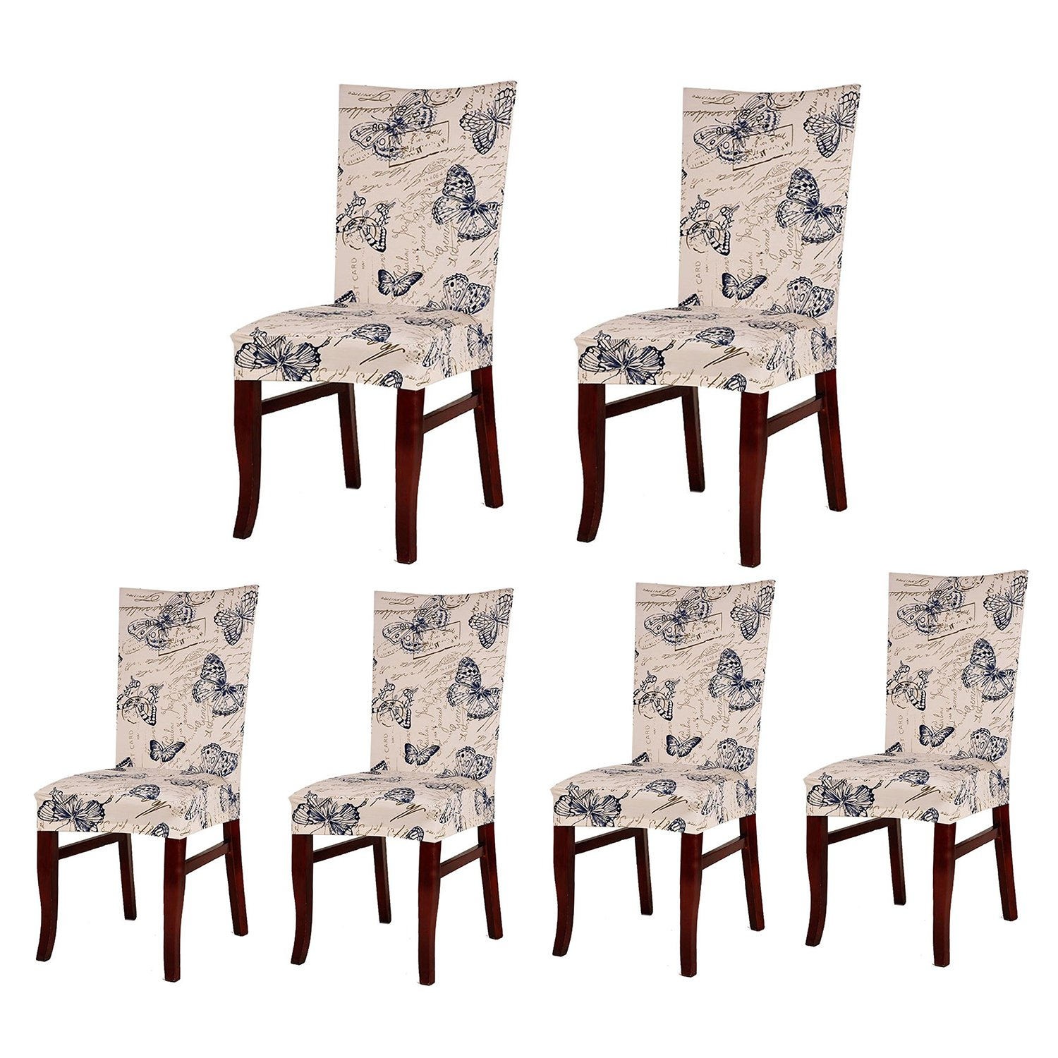 (6, Style 06) - Jiuhong Stretch Removable Washable Short Dining Chair Protector Cover Slipcover (6, Style 06) 6 スタイル06 B075XG22NZ