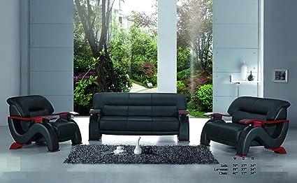 Stupendous Amazon Com Esofastore Black Modern Beautiful 3Pc Sofa Set Cjindustries Chair Design For Home Cjindustriesco