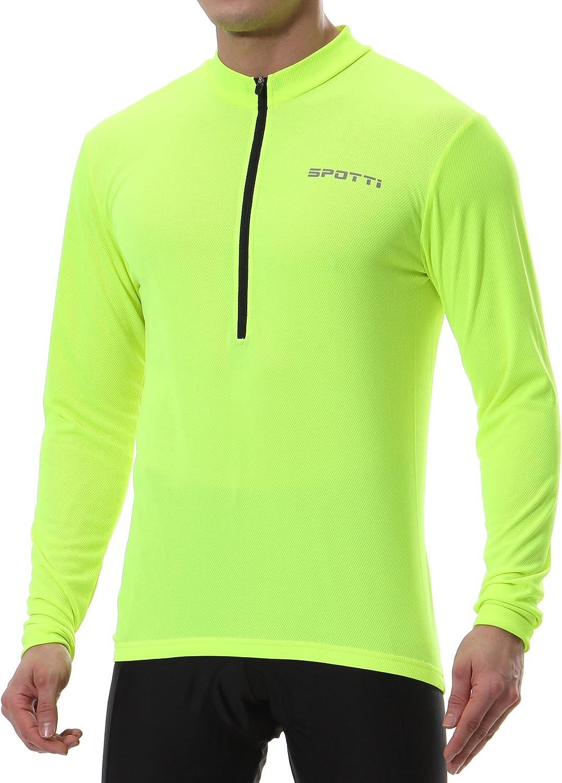 斯波蒂男子长袖自行车运动衫