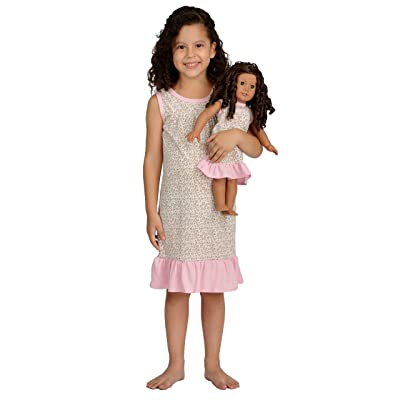 Girl and Doll Matching Outfit Clothes - Pajama Nightgown Set for Girl & Doll - Fits American Girl Dolls: Toys & Games