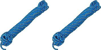 AceCamp Cuerda de plástico, polipropileno, para exteriores, multiusos, cuerda, cuerda, azul, 3 mm x 10 m, 20 m, 30 m