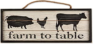 DII CAMZ11433 Farmhouse Framed Wall Art Sign, Farm to Table