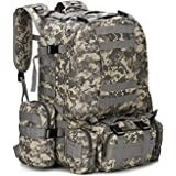 Mcdobexy Tactical MOLLE Trekking Rucksacks 55L Black