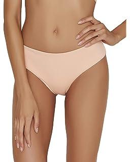dc615d0767e Amazon.com: dilinte Women's Reversible Seamless Bikini Bottom Marble ...