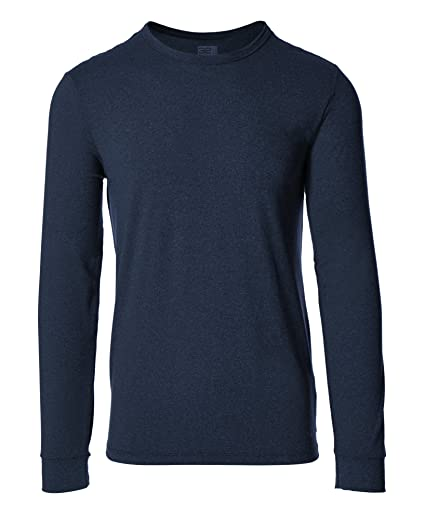 a59d1de15 32 Degrees Men Cool Crew Neck Long Sleeve Tee Shirt, Navy, Small at ...