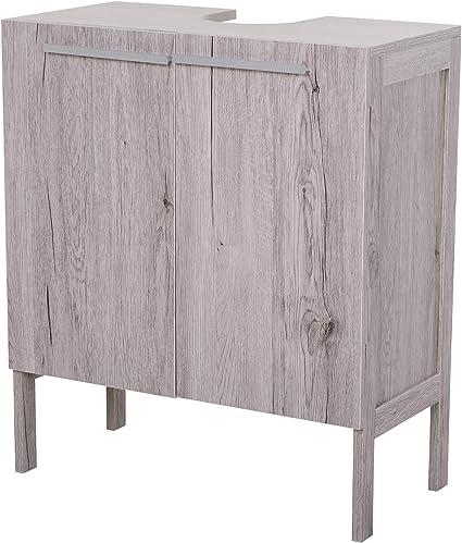 Oferta amazon: kleankin Mueble Bajo de Lavabo para Baño Compacto con 2 Puertas de Armario 60x30x70 cm
