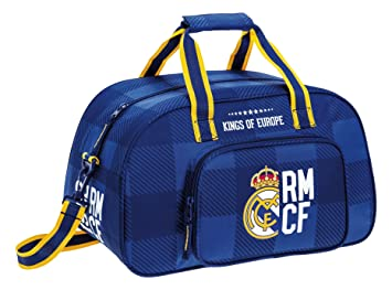 Safta Real Madrid Bolsa de Deporte, 40 x 24 x 23 Azul: Amazon.es: Deportes y aire libre