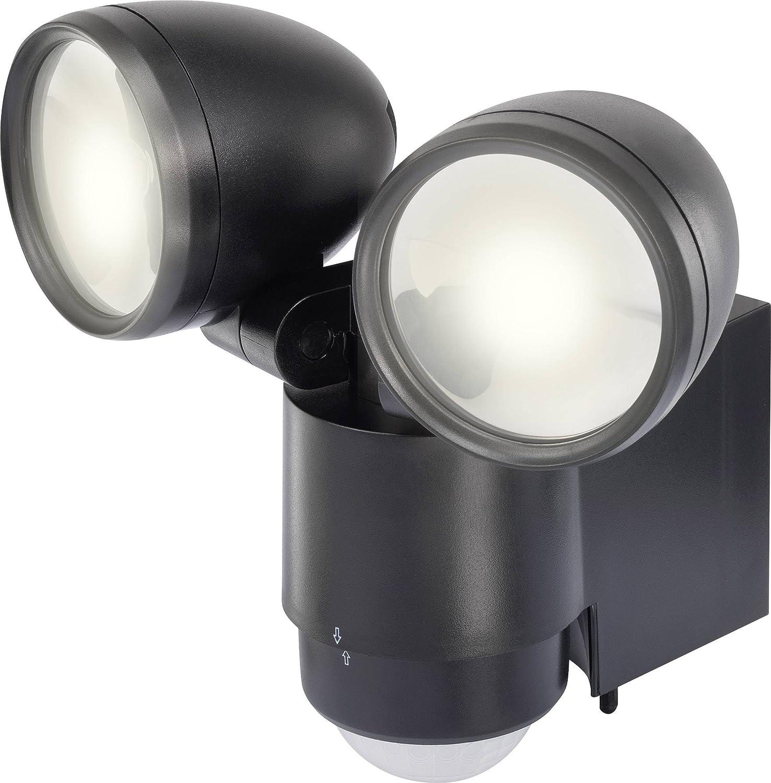 Renkforce Cadiz 1435592 LED-Außenstrahler mit Bewegungsmelder 2W Neutral-Weiß Schwarz