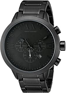 Amazon.com  Armani Exchange Men s AX1326 Black Silicone Watch ... f55537684f
