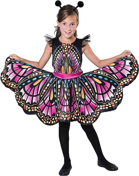 Bristol Novelty-CF102 Disfraz de mariposa, multicolor, 8-10 años ...
