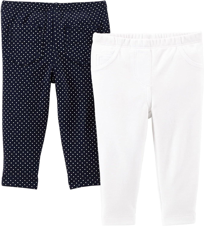 Carters Baby Girls Essential 2-Pack Pants