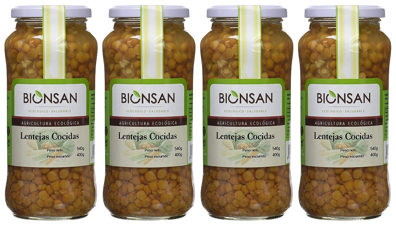 Bionsan Lentejas Cocidas de Cultivo Ecológico - 4 Paquetes de 400 gr - Total : 1600 gr: Amazon.es: Alimentación y bebidas