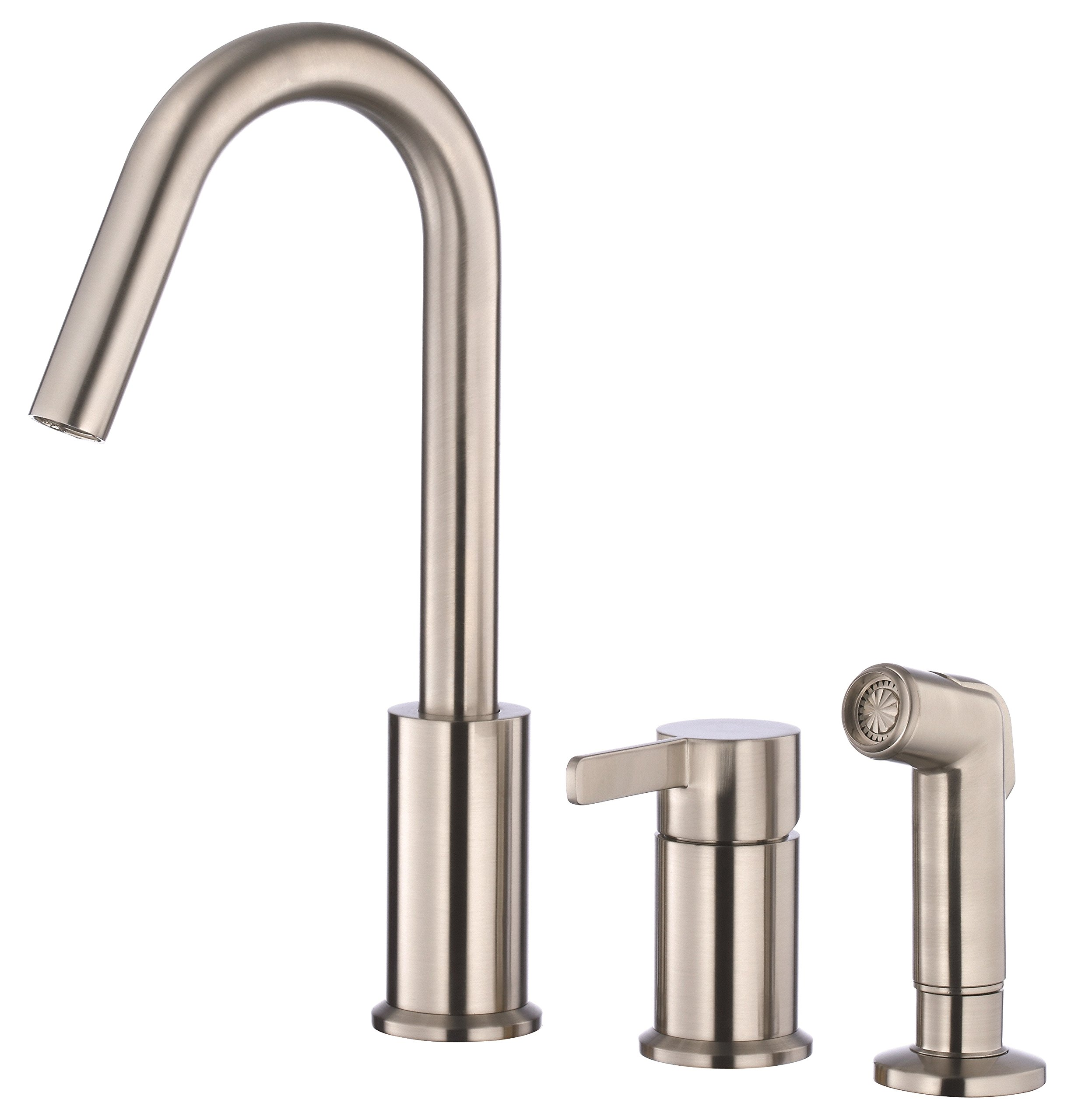 Danze D409130SS Amalfi Single Handle High-Rise Kitchen Faucet with Side Spray, Stainless Steel
