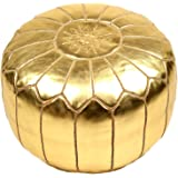 La Bohemia | Beautiful Handmade Gold Ottoman Footstool Pouf from Marrakech | Colour Gold | Delivered unstuffed