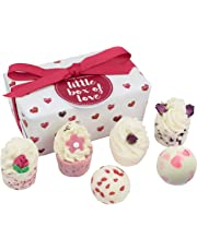 Bomb Cosmetics Little Box of Love Handmade Bath Melts Ballotin Gift Pack [Contains 6-Pieces], 240 g
