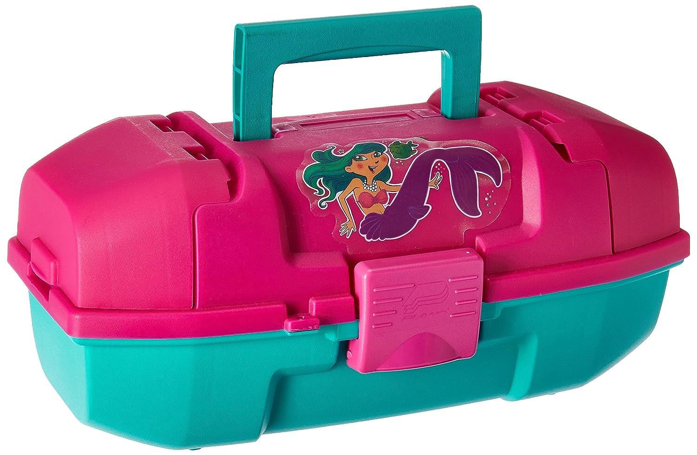 Frabill Plano Youth Mermaid Tackle Box, Magenta Teal, Premium Tackle Storage