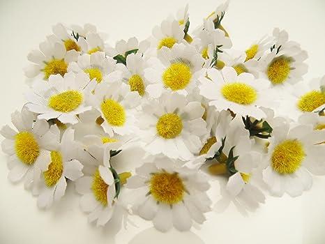 Margeriten Blüten Weiss 40 Stück Kunstblüten Streudeko Tischdeko